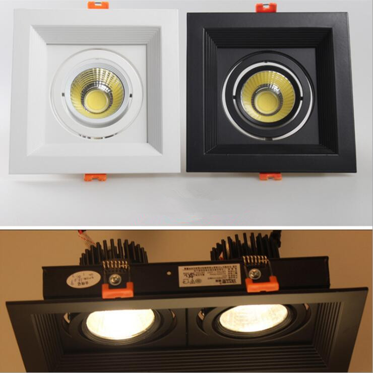 1Pcs 10W 20W 30W LED DIMMABLE110/220V COB Ceiling Downlight Recessed LED Wall lamp Spot light With LED Driver For Home Lighting 7 30w led vertical recessed downlight with isolated driver ac100 240v to replace traditional canister light 18pcs lot promotion