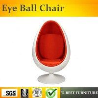 U BEST modieuze ontwerp leisure fiberglass ruimte Eye Bal goedkope ei pod stoel-in Chaise Lounge van Meubilair op