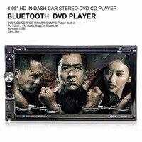 6065B 6 95 Double 2DIN Car Bluetooth Touchcreen DVD CD Player Radio Stereo Head Unit