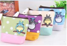 100pcs/lot! Kawaii 4Colors Canvas Storage Box Coin Wallet Purse Sundries Keys Bag Pouch Organizer