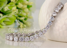 CZ Crystal Necklace and Earrings