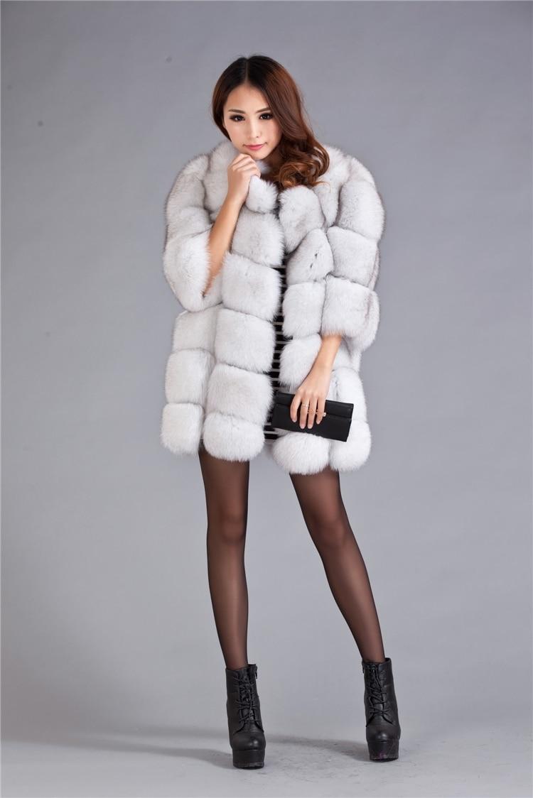 ec9b81780d 2017 Winter New Genuine Real Fur Nature White Natural Fox Fur Coats Jacket  Women Women Lady Plus size 3xl 4xl 5xl 6xl 7xl-in Real Fur from Women's  Clothing ...