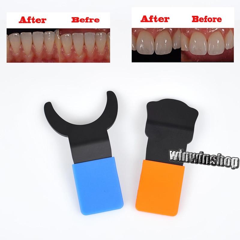 2 PCs Dentaire Contraster Dentiste Endodontie Orthodontie Silicone Contraster Oral Noir Fond Conseil Photographie