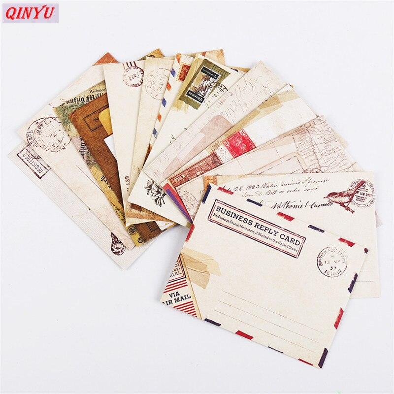 12pcs//Lot Cute Paper Vintage Envelope Retro Air Mail Greeting Letter Envelope