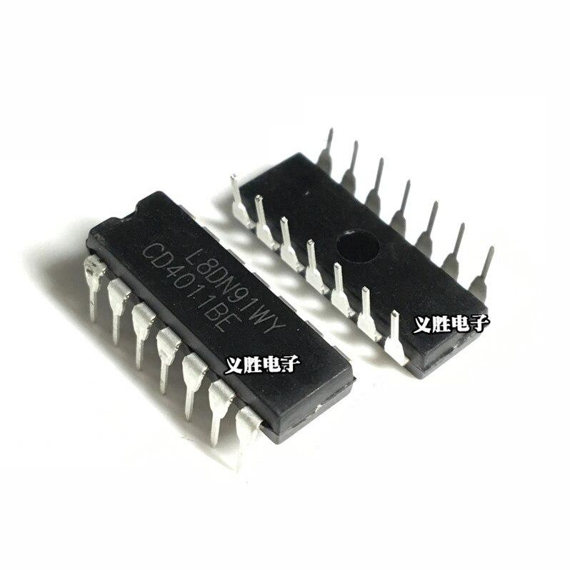 10PCS  CD4011 CD4011BE HEF4011BP HEF4011 DIP-14 Quad 2-Input Buffered Chip New Original