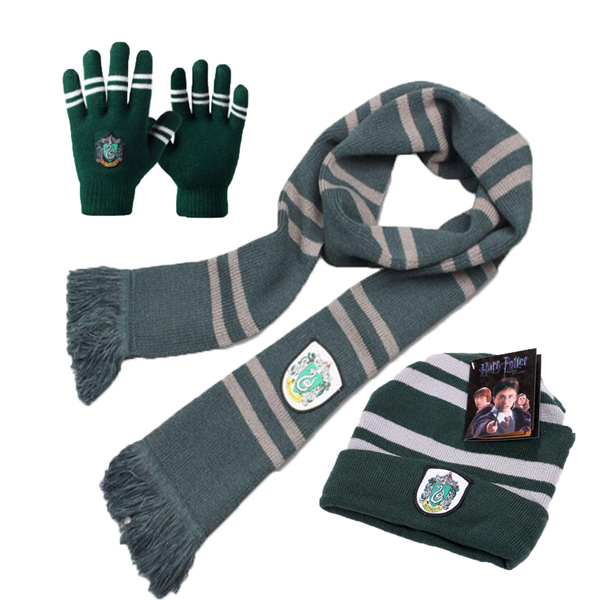 2018 Harri Potter Scarf Scarves Touch Gloves Hat Gryffindor/Slytherin/Hufflepuff/Ravenclaw Scarves Hat Touch Gloves Scarf