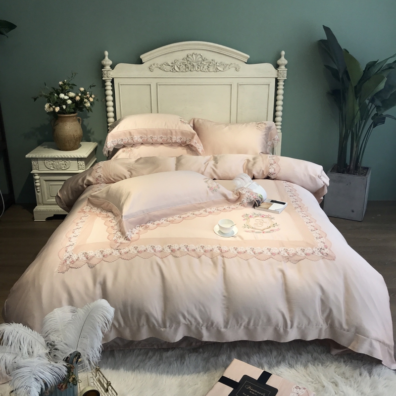 800TC Tencel juego de cama de seda sábana de cama edredón bordado de lujo juego de cama Queen King size ropa de cama funda de almohada ropa de cama cama-in Juegos de ropa de cama from Hogar y Mascotas    1