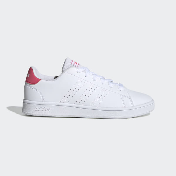Adidas Shoes Girl ADVANTAGE K, Free And Time Sportwear, White