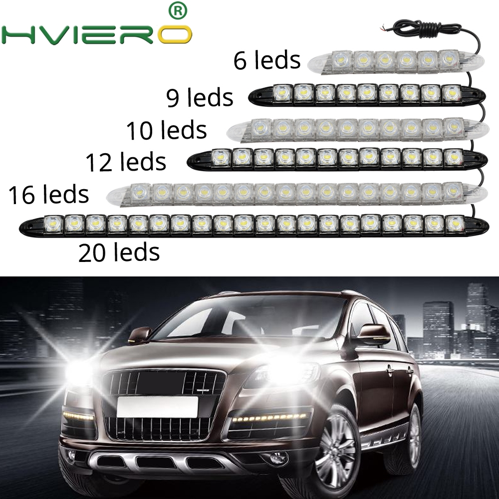 Auto Led Flexible Silicone Led Daytime Running Light 6LED with Lens DC 12V White Head Lamp Headlight Parking Fog Lights