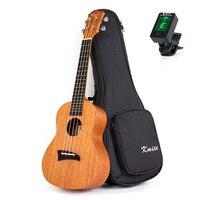 Kmise Concert Ukulele Mogno 23 polegada 18 Trastes 4 Cordas Ukelele Uke Havaí Aquila String com Gig Bag Saco de Guitarra Sintonizador