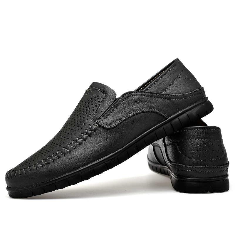 8b59ca114 ... Размеры 37-45, мужская обувь 2019 г. Новые мужские лоферы летние  дышащие мужские ...