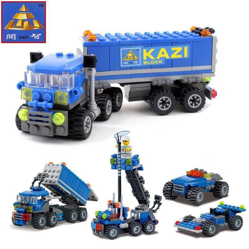 Şehir Yapı Taşları Polis taşıma araç mobil makine dükkanı Araba Blokları Monte Oyuncaklar LEGO Ile Uyumlu çocuklar için