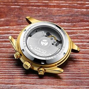 Image 5 - Haiqin relógio mecânico automático, homens relógios top marca de negócios de luxo militar à prova d água relógio turbilhão reloj hombre
