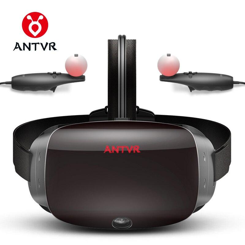 ANTVR 2018 nuevo Realidad Virtual gafas VR juego de vapor para ordenador Virtual gafas Binocular 110 FOV 2K VR caja 3D VR 2T