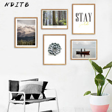 Scandinavian Mountain Forest Landscape Canvas Wall Art Poster Nordic Style Print Painting Decorative Picture Modern Home DECOR