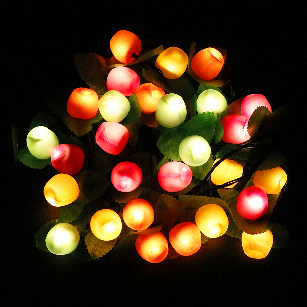 Led String Light Random Fruit 3.5M 28leds With Controller 220V Plug Lantern Holiday Christmas Home Party Decor Night Light HL