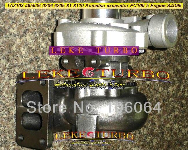 TA3103 465636-0206 465636 6205-81-8110 6205818110 Turbo Turbocharger For Komatsu Excavator PC100-5 PC120-5 PC100 PC120 S4D95