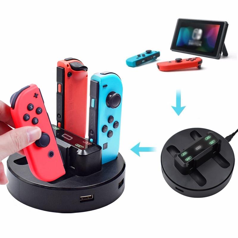 5 шт. зарядная док-станция для Nintendo Switch Joycon, индикатор для Nintendo Switch, игровой контроллер, зарядное устройство