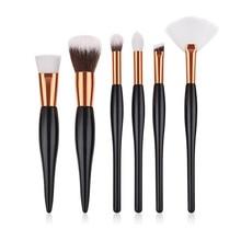 6PCS Makeup Brushes Set for Eye Shadow Eyebrow Lip Eyelash Brush Professional Oval handle Makeup Brush Tools T04025 professional eye brush 6pcs