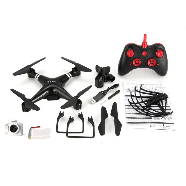 KY101 WiFi FPV Wide Angle 2MP/720P/1080P Camera Selfie RC Drone Altitude Hold Headless Mode 3D Flips One Key Return Helicopter