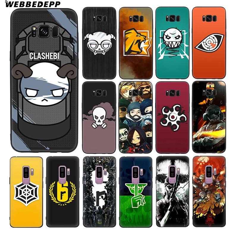 WEBBEDEPP Rainbow Six Siege 6 Soft TPU Silicone Case for Samsung Galaxy S10 S10e S9 S8 Plus S7 S6 Edge & J6 Phone Case