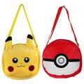 30cm Pikachu Pokeball Plush Toys Cartoon Women Mini Crossbody Bag Contton Female Shoulder Bags for Girls Children Birthday Gift