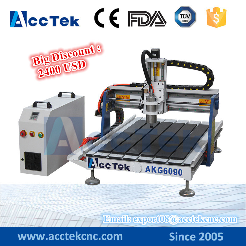 acctek machinery mini desktop cnc router 6090 cnc wood carving machine for small 3d Wood Crafts acctek mini cnc desktop engraving machine akg6090 square rails mach 3 system usb connection