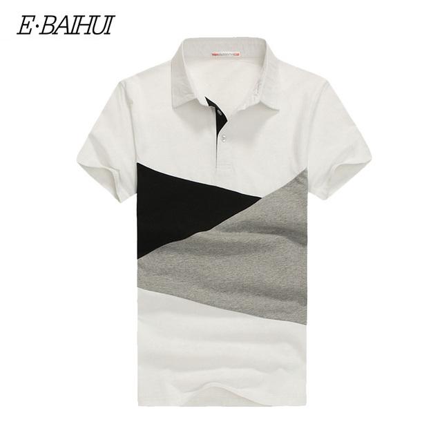 E-BAIHUI Marca de Algodón para hombre polos Camisa de Manga Shorts Casual tops camisetas Polos ropa Hombre camisa de Polo de los hombres Camisas P056