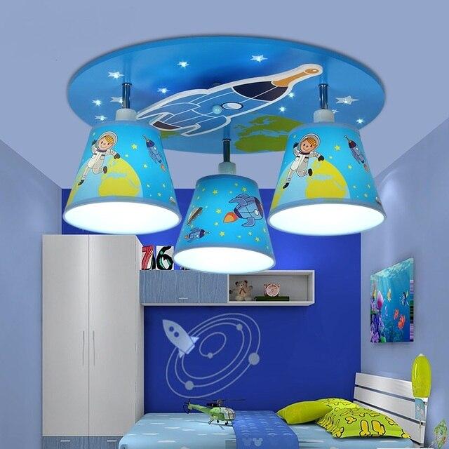 children bedroom lighting. Eye Care Children Room Ceiling Lights Boy LED Bedroom Light Creative Cartoon Rocket Ship Kindergarten Lighting