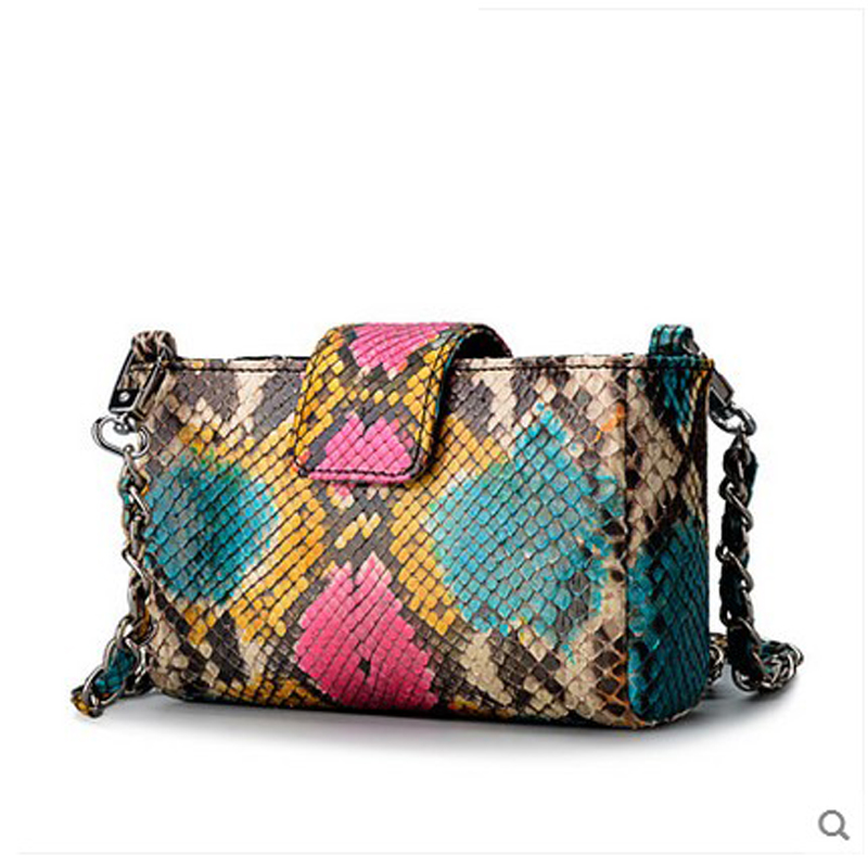 jialante new imported python skin leather women handbag women chain bag single shoulder slanted small package mini bag jialante 2017 new lizard leather bag is made of simple small shell bag customized for 15 days