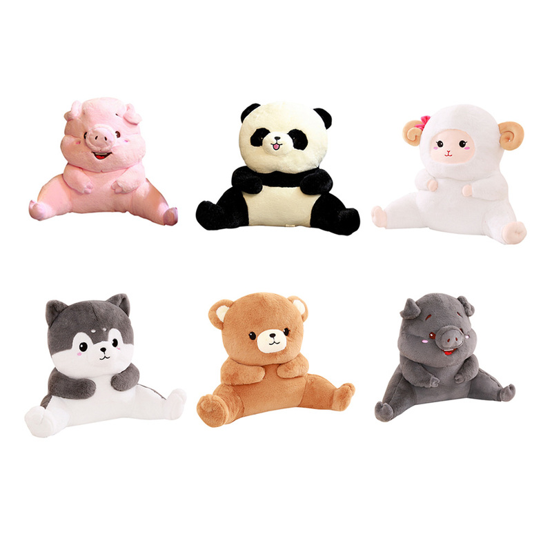 Chair Sofa Backrest Animals Plush Lumbar Pillow Back