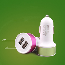 2.1A 1A Universal Dual USB Car Charger Intelligent Charging Cigarette Socket Lighter Car Charger For