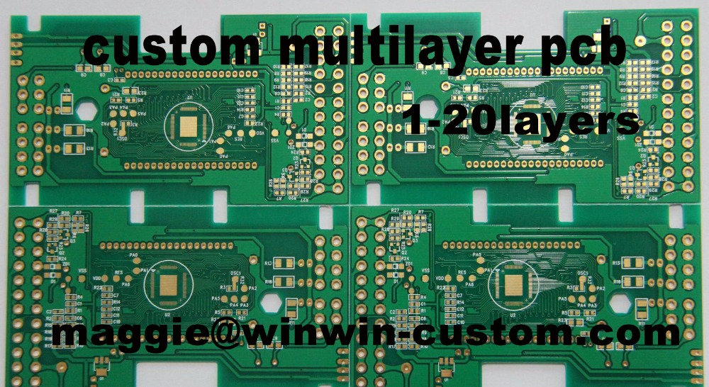 Free shipping 1pc 1~20layers custom multilayer pcb service Best Fr4 PCB prototype pcb board from PCB Manufacture