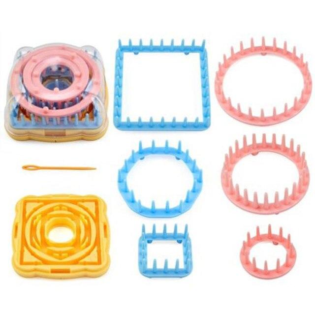 9pcs Weaving Loom Knitting Loom Flower Daisy Knit Pattern Maker Wool Yarn Needle Loom Knitting Tools