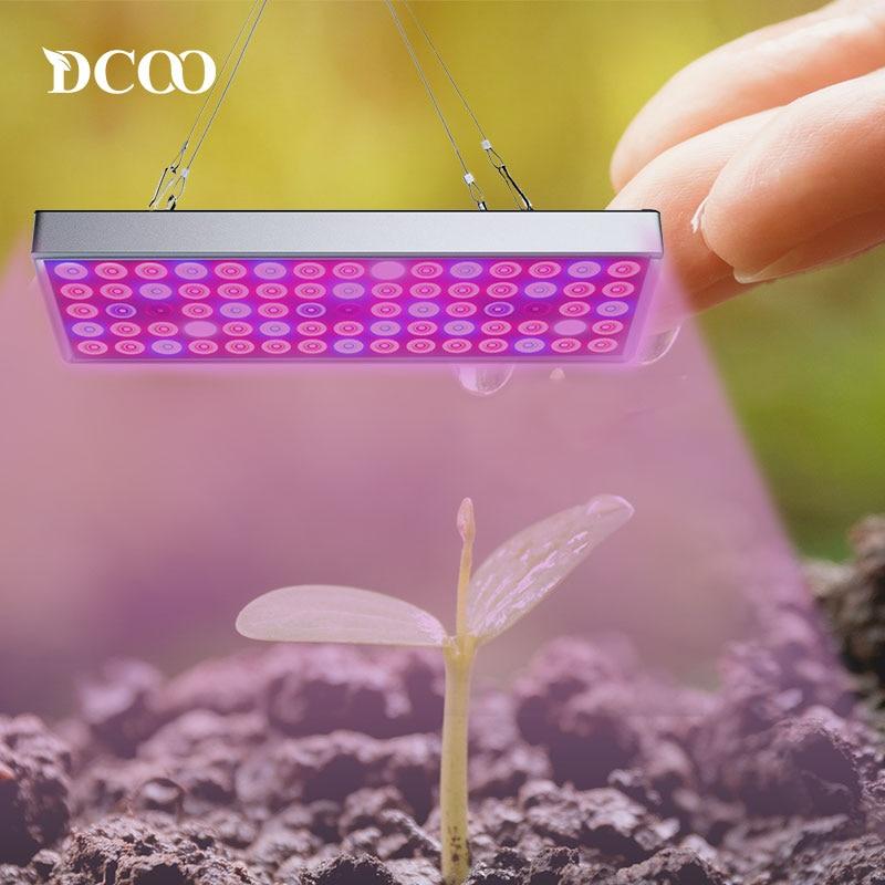 DCOO LED Grow Light 25W UV IR Growing Lamp  265V Full Spectrum For Indoor Greenhouse Plants Hydroponics Flower Panel Grow Lights