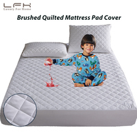 LFH Twin/Full/Queen/King Quilted Waterproof Mattress Pad Cover Brushed Fabric Mattress Protector Queen Size Fit Stretch Sheet