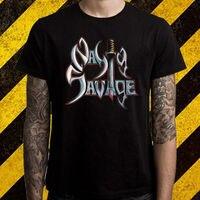 New Nasty Savage Death Metal Band Logo Men S Black T Shirt Size S To 2XL