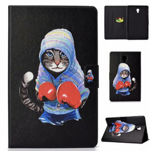 Fashion Flip Smart Case voor Samsung Galaxy Tab EEN 10.5 2018 SM-T590 SM-T595 T590 Cute Cat Dog Cover Voor