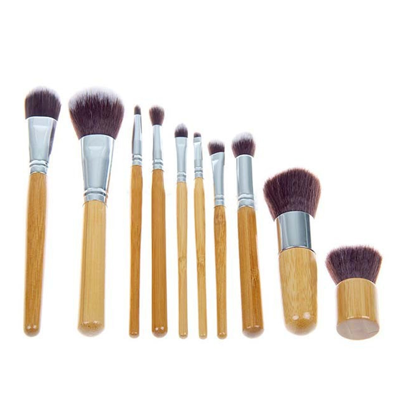 10Pcs Professional Makeup Brushes Set Powder Foundation Make Up Brushes Cosmetics Soft Synthetic Hair With Storage Pouch new touch screen capacitive screen panel digitizer glass sensor replacement for 7 inch irbis tz55 3g tablet free shipping