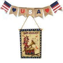 Rustic Wooden Happy Happy 4th Of July Sign Plaque Independence Day Room Home Decor Collection Gift цены