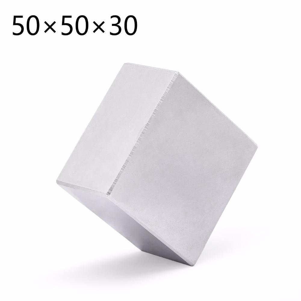 1 pz N52 Blocco Permanente 50mm x 50mm x 30mm Super Strong Terra Rara magneti Al Neodimio Magnete