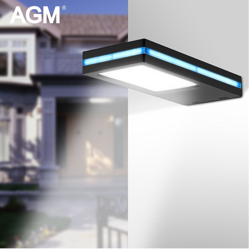 AGM 144 Led Solar Lamp Waterproof PIR Motion Sensor Outdoor Powered Wall Lamp Emergency Solar Garden Light Street Yard Linghting