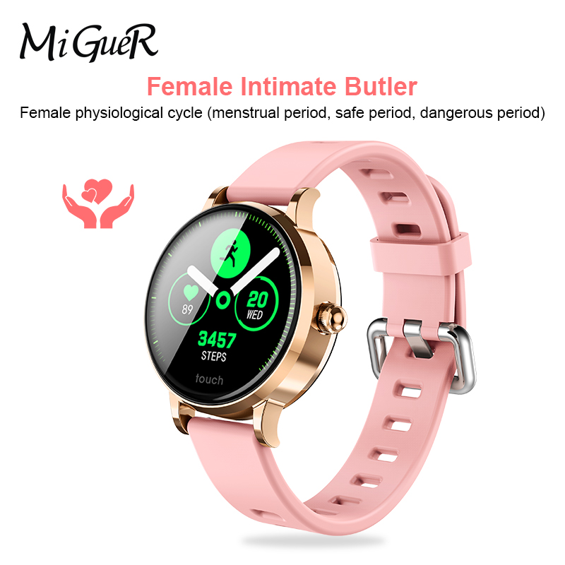 S9 Smart Bracelet 1 04 Inch IPS Color Screen Fashion Female Physiological Cycle Exercise Heart Rate