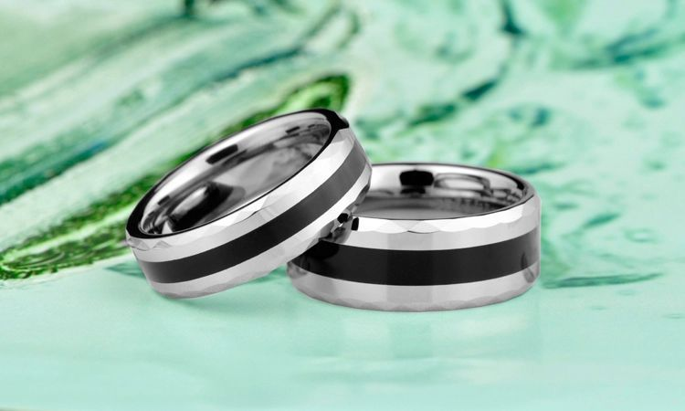 Tungsten carbide ring engraving with love forever outside 4color for choice wholesale and drop shipping gift for Xmas