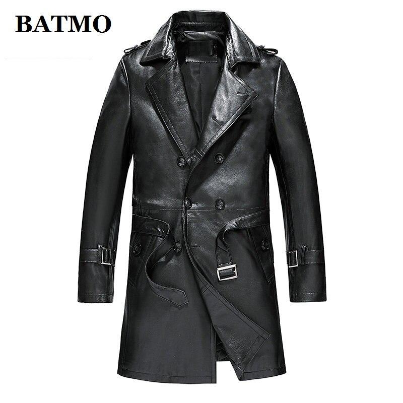 2019 100% d'origine Hommes de confortable véritable veste en cuir Air Force vêtements moto Réel en peau de Mouton Manteau Top Qualité