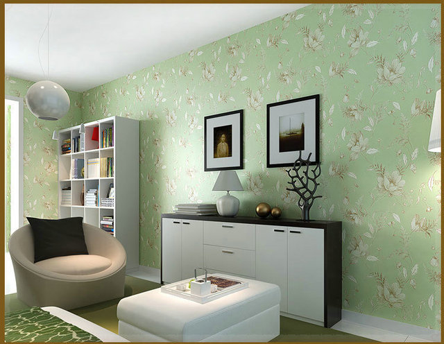 Non Woven Papel De Parede Vintage Clic Wallpaper Roll Green French Modern Damask Feature Wall