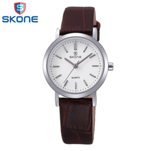 SKONE Women's Watch for Business Fashion Casual Wristwatch Quartz Leather Watches for Woman Lady