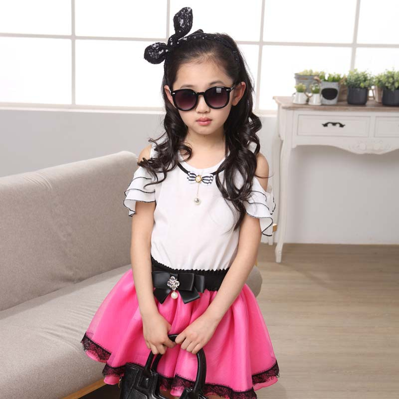 3b4f7b968 high quality new style summer korea baby girl kids clothing hot dress 3 4 5  6 7 8 9 10 11 12 13 years old princess dresses A438