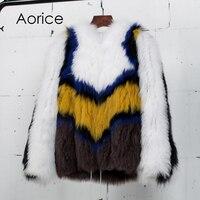 Pudi CT7029 Настоящее пальто с мехом женские лисы пальто с мехом Куртка 2017 Новый бренд зимние теплые Верхняя одежда Пальто