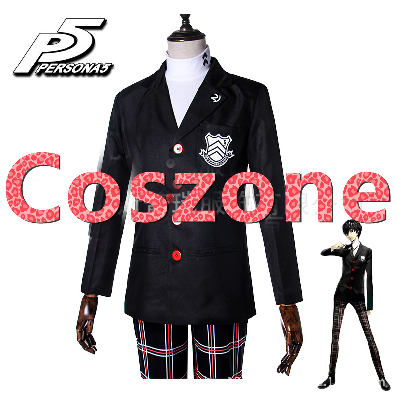 Persona 5 Protagonist Akira Kurusu Ren Amamiya Cosplay Costume Japanese Anime Halloween Carnival Party Costume Custom Made